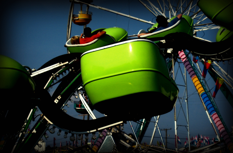 Green, empty, fair, carnival, ride,carnie, marcie vargas