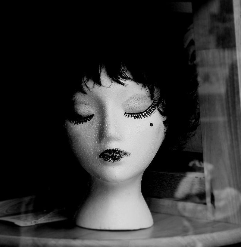 styrofoam, mannequin, mannikin, dummy, wig, beauty, model, hair, marcie vargas
