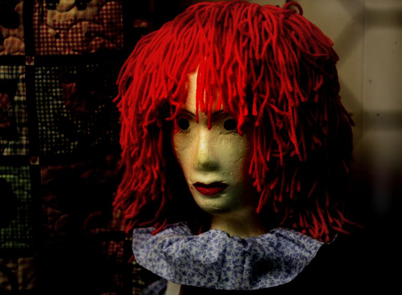 Mannequin, wig, model, head, face, raggedy ann, marcie vargas