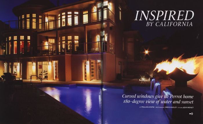 King Isosceles Firebowls featured in Montreal Home Magazine
