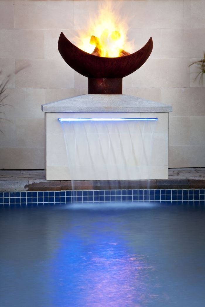 fountain pedestal with firebowl
