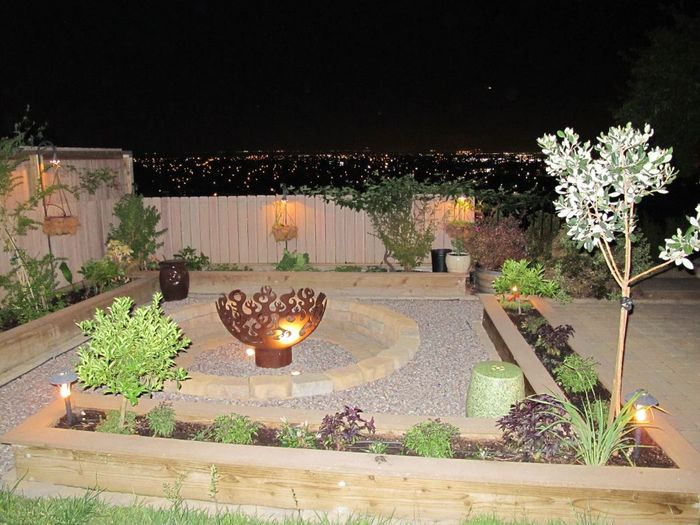 Great Bowl O Fire Firebowl with night skyline