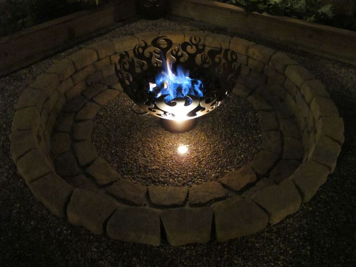 Great Bowl O' Fire Firebowl with Natural Gas Flame