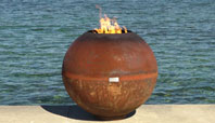 the fireball modern steel firebowl