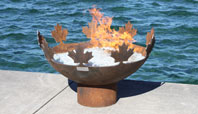 The Big Bowl O' Canada Recycled Steel Firebowl