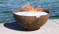 The Big Bowl O' Zen Modern Steel Firebowl