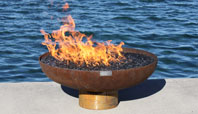 The Font O' Fire: Minimalist Modern FirePit in Recycled Steel
