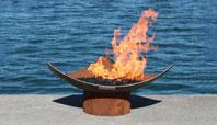 Isosceles Modern Steel FirePit