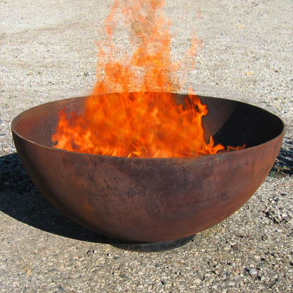 The Big Bowl O Zen Modern Steel Firebowl: ArtBuzz :  craft home accents fireplace flame