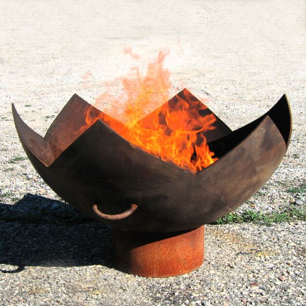 Great Flaming Lotus Firebowl 37 inch fire pit: ArtBuzz :  craft home accents fireplace flame