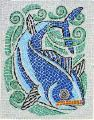 Crazy Whale Glass Mosaic Panel