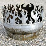 The Beach Burner Portable Bonfire: 24 and 30 inch Recycled Steel Fire Pits: ArtBuzz
