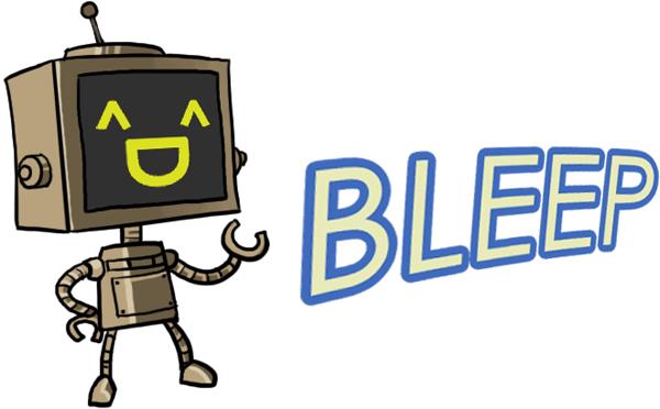 bleep robot emoticon set