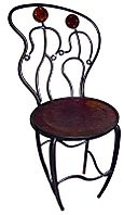 Dancer Café Chair, Flirting Couple