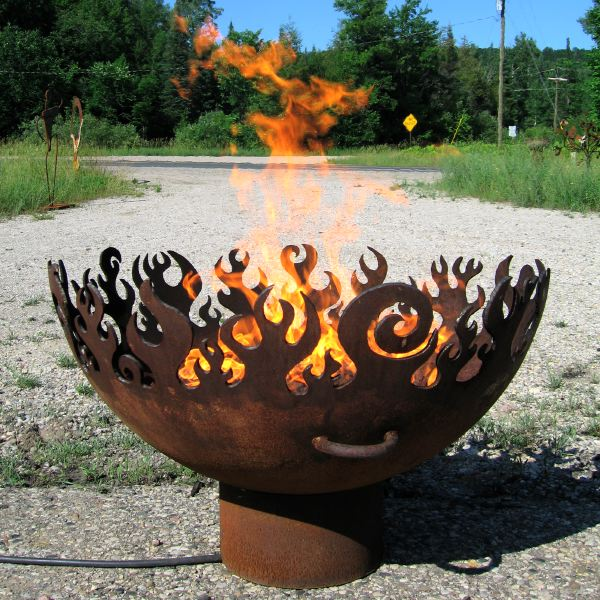 The Great Bowl O' Fire Recycled Steel Fire Pit, 37 Inch Diameter