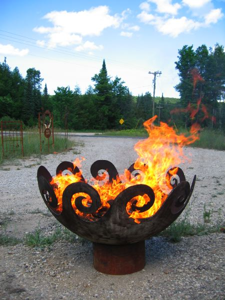 Waves O' Fire 37 Inch FireBowl: ArtBuzz