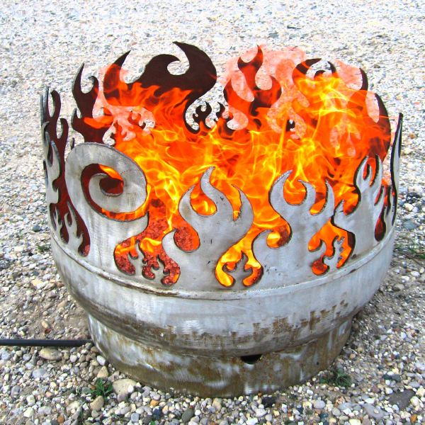 In my research I came across this fire pit that was created by an artist.