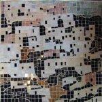 coastal houses marble mosaic