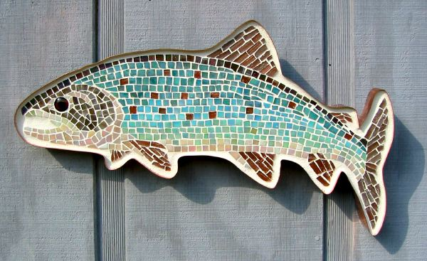 Lake Trout Glass Mosaic, 2006