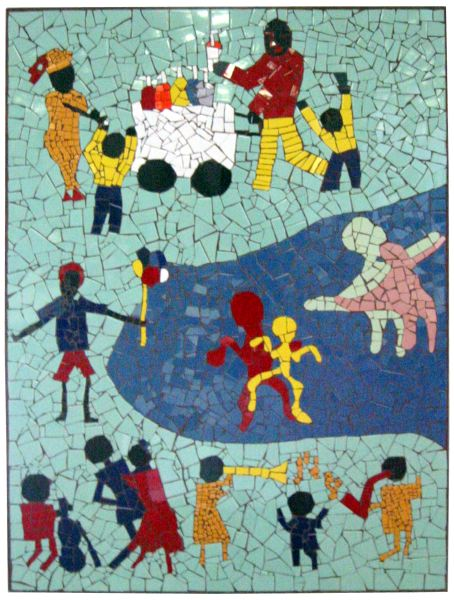 Community Harmony Through Song & Play public art mosaic