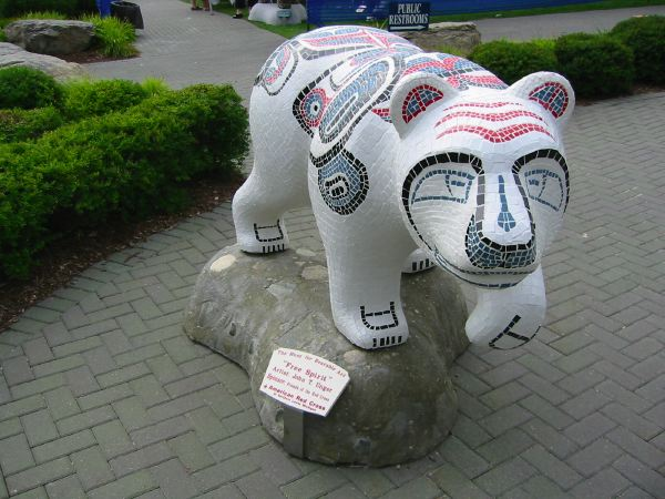 Mosaic Bear for the American Red Cross