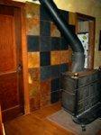 abstract slate wall mosaic mural
