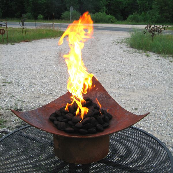 Isosceles Recycled Steel Fire Pit: ArtBuzz