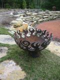 The Great Bowl O' Fire Recycled Steel Fire Pit, 37 Inch Diameter :  craft summer sculpture home accents